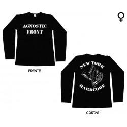 Agnostic Front - Long Sleeve de Mulher - New York Hardcore