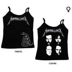 Metallica - Top de Mulher - Snake